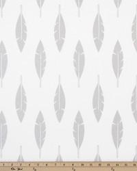 White Birds Fabric  Feather Silhouette White Luna