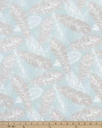 Blue Birds Fabric  Flock Spa Blue