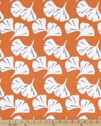 Orange Oriental Fabric  Ginkgo Monarch