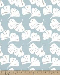 Blue Oriental Fabric  Ginkgo Spa Blue