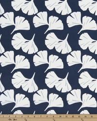 Blue Oriental Fabric  Ginkgo Vintage Indigo