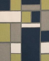 Blue Funky Fabric  Hopscotch Felix Natural