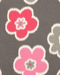 Pink Modern Floral Fabrics  Ikat Petals Flamingo