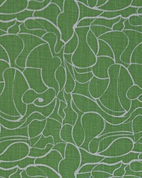 Green Circles and Swirls Fabric  Jagger Organic Green Dossett