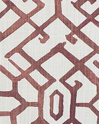 Red Oriental Fabric  Jing Scarlet Slub Canvas