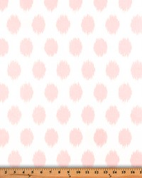 Pink Circles and Swirls Fabric  Jo Jo Bella Twill