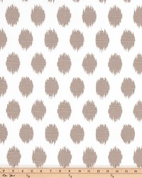 Beige Circles and Swirls Fabric  Jo Jo Ecru Slub