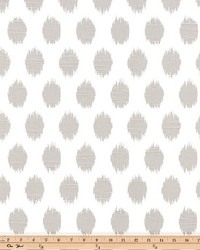 Grey Circles and Swirls Fabric  Jo Jo French Gray Slub