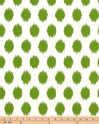 Green Circles and Swirls Fabric  Jo Jo Kelly Green Slub