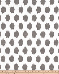 Grey Circles and Swirls Fabric  Jo Jo Summerland Gray Slub