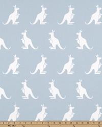 White Elephants and Other Exotic Animals Fabric  Kangaroo Weathered Blue Whitet