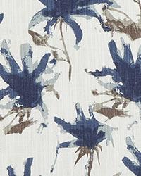 Blue Abstract Fabric  Kendal Regal Blue Slub Canvas