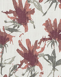 Red Abstract Fabric  Kendal Scarlet Slub Canvas