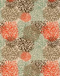 Blue Medium Print Floral Fabric  Blooms Byram Laken