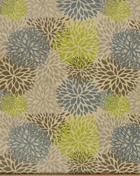 Green Medium Print Floral Fabric  Blooms Florence Laken