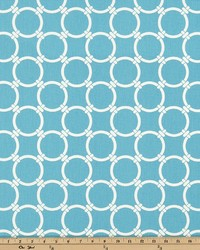 Blue Circles and Swirls Fabric  Linked Apache Blue Macon