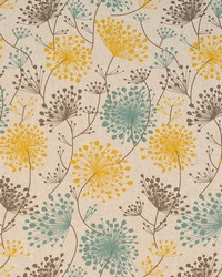 Yellow Modern Floral Designs Fabric  Irish Daisy Collins Laken