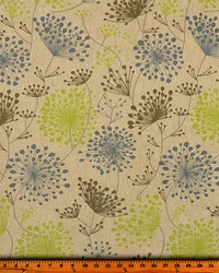 Beige Modern Floral Designs Fabric  Irish Daisy Florence Laken