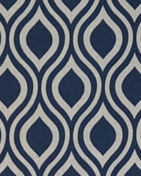 Blue Circles and Swirls Fabric  Nicole Indigo Laken