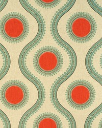 Circles and Swirls Fabric  Susette Byram Laken