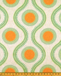 Green Circles and Swirls Fabric  Susette Ridgeland Laken