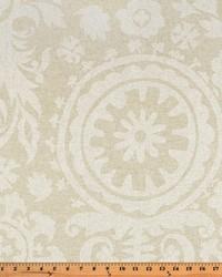 White Suzani Fabric  Suzani Cloud Linen