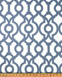 Blue Trellis Diamond Fabric  Lyon Cashmere Blue