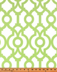 Green Trellis Diamond Fabric  Lyon Kiwi
