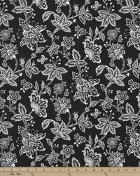Black and white floral fabric interiordecorating fabric black black and white flower fabric madelyn black mightylinksfo