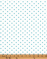 Mini Dot White Coastal Blue Twill by