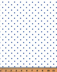 Mini Dot White Cobalt Twill by