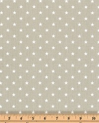 Mini Star Snowy Gray White Twill by