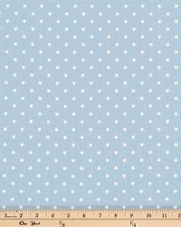 Mini Star Weathered Blue White Twill by