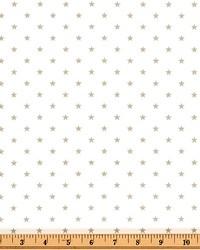 Mini Star White Snowy Gray Twill by