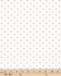 Mini Star White Weathered Blue Twill by