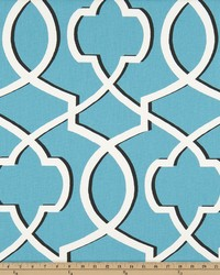 Blue Trellis Diamond Fabric  Morrow Apache Blue Macon