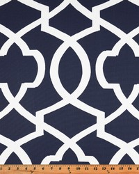 Blue Trellis Diamond Fabric  Morrow Blue