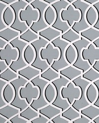 Grey Trellis Diamond Fabric  Morrow Cool Grey