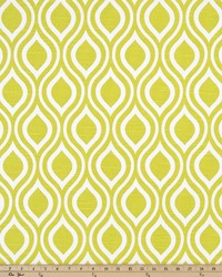 Green Circles and Swirls Fabric  Nicole Artist Green Slub