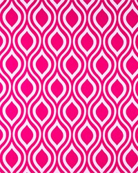 Pink Circles and Swirls Fabric  Nicole Candy Pink
