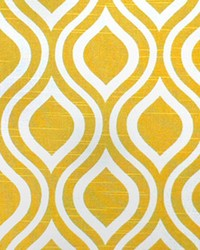 Yellow Circles and Swirls Fabric  Nicole Corn Yellow Slub