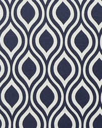 Blue Circles and Swirls Fabric  Nicole Premier Navy Slub