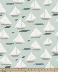 Grey Boats and Sailing Fabric  Outdoor Cape May Blue Stone