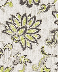 Green Jacobean Floral Fabric  ODT Grove Greenery Luxe Polyes