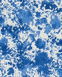 Blue Abstract Fabric  ODT Shore Admiral Polyester