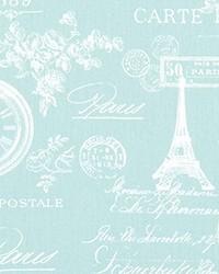 Blue Word Fabrics  Paris Canal Twill