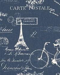 Blue Word Fabrics  Paris Premier Navy Twill
