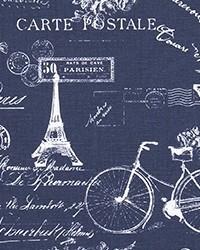 Blue Word Fabrics  Paris Vintage Indigo