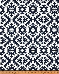 Blue Navajo Print Fabric  Pawnee Premier Navy