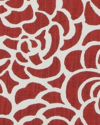 Peony Vermillion Luxe Linen by